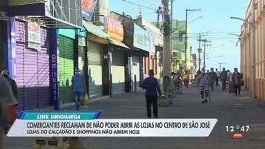 Comerciantes de São José dos Campos fecham as portas neste sábado (13) - Medida segue a determinação da prefeitura para evitar aglomerações