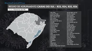Com avanço da Covid-19, Serra passa para bandeira vermelha no distanciamento social no RS - Empresas da região vão passar a funcionar com 50% da capacidade a partir desta segunda-feira.