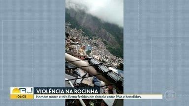 Tiroteio na madrugada da Rocinha - Moradoes enviaram vídeos com sons dos tiros. 1 homem morreu e três pessoas ficaram feridas . Complexo da saúde da Rocinha com upa caps e clínica da família, também foi atingido. Decisão dp STF proíbe operações e comunidades