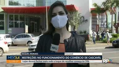 Segunda cidade com mais casos da Covid-19 faz novas restrições - Lojas devem fechar mais cedo e toque de recolher começa às 20h
