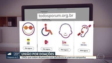Instituições que atendem pessoas com deficiência se unem em campanha por doações - AACD, Derdic, Jô Clemente e Dorina Nowill criam campanha na internet para alavancar doações financeiras que caíram com a pandemia.