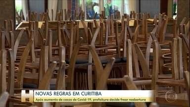 Prefeitura de Curitiba estabelece regras mais rígidas para o funcionamento do comércio - Após aumento de casos de Covid-19, prefeitura decide frear reabertura.