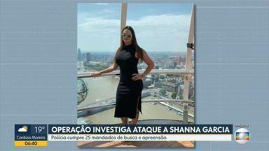 Operação investiga tentativa de homicídio contra filha do bicheiro Maninho - Agentes da Polícia Civil e do Ministério Público estão nas ruas para cumprir mandados de busca e apreensão.