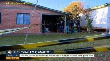 Reconstituição do caso de menino de 11 anos morto em Planalto é marcada para quinta-feira - Caso completa um mês nesta segunda-feira (15). Após confessar a morte, a mãe do menino, Alexandra Dougokenski, está presa desde o dia 26 de maio.
