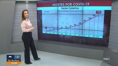 SC tem 13.960 pessoas com Covid-19 e 199 mortes - SC tem 13.960 pessoas com Covid-19 e 199 mortes