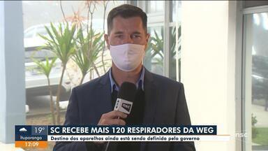 SC recebe mais 120 respiradores de empresa catarinense - SC recebe mais 120 respiradores de empresa catarinense