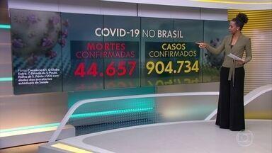 Brasil tem 44.657 mortes por coronavírus, mostra consórcio de veículos de imprensa - A primeira morte por Covid-19 no Brasil completa 3 meses nesta terça-feira (16). País passa de 900 mil casos confirmados da doença.