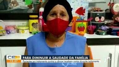 Pacientes em tratamento contra o câncer recebem cartas durante isolamento - Saiba mais no g1.com.br/ce