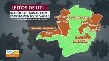 Covid-19: Veja a quantidade de leitos em Minas Gerais - Quatro macrorregiões de MG tem mais de 100% de ocupação de UTIs.