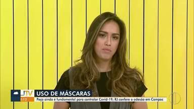 RJ Inter TV destaca a importância do uso de máscaras nas ruas e mostra números da Covid-19 - Números de casos seguem crescendo no interior do Rio.