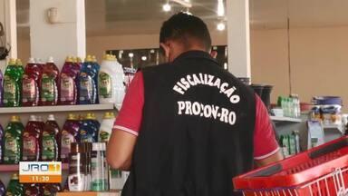 Após denuncias, Procon fiscaliza comércio de Ji-Paraná - Alguns comércios em Ji-Paraná que foram denunciados por preços abusivos.