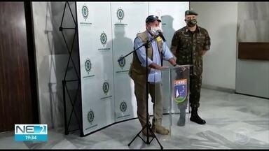 Ministro da Defesa visita Pernambuco para fazer vistoria de operação contra Covid-19 - Fernando Azevedo e Silva esteve no Comando Militar do Nordeste, no bairro do Curado, Zona Oeste do Recife