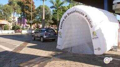 Justiça determina que prefeitura retire 'túnel de desinfecção' contra Covid-19 em Boituva - A Justiça determinou que a Prefeitura de Boituva (SP) retire imediatamente o túnel de desinfecção para combater o coronavírus. A decisão atende a um pedido do Ministério Público.