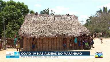 Mãe e filho que morreram por causa da Covid-19 são enterrados na Aldeia Zutíua no Maranhão - Lideranças indígenas dizem que o vírus se alastra pelas aldeias do Maranhão.