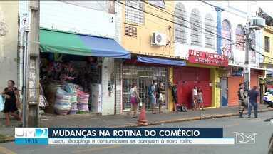Lojas, shoppings e consumidores se adequam à nova rotina do comércio em São Luís - Houve uma mudança na rotina de compra do consumidor.