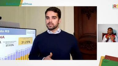 Governador do RS faz alerta para Região Metropolitana de Porto Alegre devido à Covid-19 - Em 11 dias, Capital teve aumento de 65% nos leitos de UTIs com pacientes de coronavírus