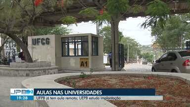 Universidades estudam formas de retomar aulas na Paraíba - Enquanto as aulas não começam, tem aluno criando grupo de estudo remoto para não atrasar o aprendizado.