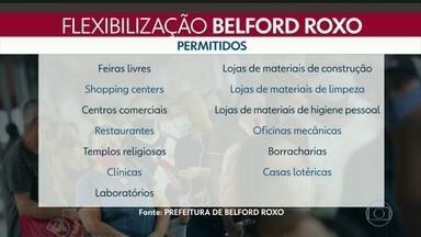 Prefeitura de Belfort Roxo liberou o funcionamento do comércio e dos serviços - A prefeitura de Belfort Roxo autorizou o funcionamento de vários seguimentos do comércio e dos serviços. uso de máscaras obrigatório e proibição de aglomerações continuam valendo