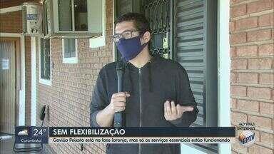 Gavião Peixoto está na fase laranja, mas só os serviços essenciais estão funcionando - O município está seguindo as regras da fase vermelha.