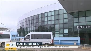 Hospital de São Miguel do Oeste contrata profissionais de enfermagem para leitos de UTI - Hospital de São Miguel do Oeste contrata profissionais de enfermagem para leitos de UTI