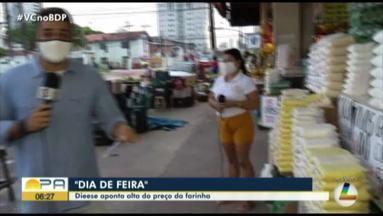 Quadro 'Dia de Feira' fala sobre a alta no preço da farinha - De acordo com a última pesquisa do dieese, no último mês de maio a Farinha de mandioca encerrou com alta de 15,84%.