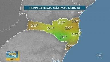 Veja a previsão do tempo para esta quinta-feira em Santa Catarina - Veja a previsão do tempo para esta quinta-feira em Santa Catarina