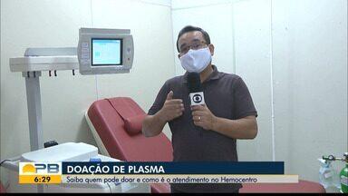 Doação de plasma; saiba quem pode doar e como é o atendimento no Hemocentro - Confira os detalhes com o repórter Hebert Araújo.
