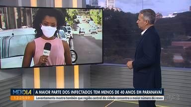 Maioria dos infectados por Covid-19 em Paranavaí tem menos de 40 anos - Levantamento mostra também que região central da cidade concentra o maior número de casos