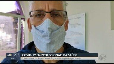 Cinco funcionários da Santa Casa de Poços de Caldas testam positivo para Covid-19 - Todos foram colocados em isolamento