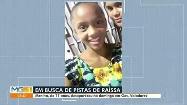 Família procura por menina de 11 anos desaparecida em Governador Valadares - Ela desapareceu na manhã desse domingo (14), quando saiu para comprar carne em um açougue, no bairro Santa Helena.