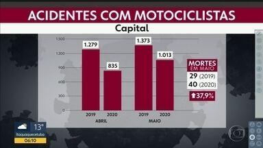 Queda no número de acidentes com moto - Tanto a capital como o estado tiveram redução; mortes aumentaram.
