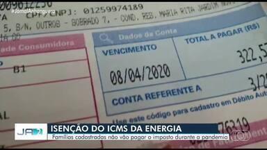 Famílias inscritas no Cadúnico não vão pagar ICMS da energia elétrica - Ajuda para o período de pandemia vale por dois meses.
