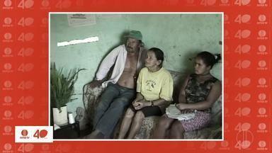 Memória Inter TV: Veja reportagem de família que vivia em casa na divisa entre MG e BA - Reportagem marcou os 40 anos de história da Inter TV em MG.