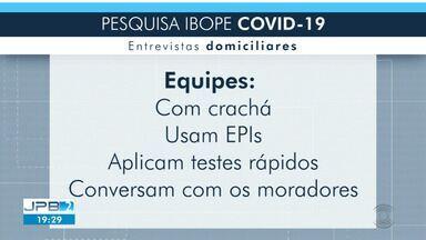 Equipes do Ibope visitam casas de cidades paraibanas - Pesquisa busca investigar como está o avanço da Covid-19 no Estado.