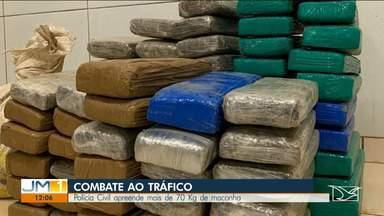 Polícia apreende 70 kg de maconha em Bom Jardim - Apreensão foi na zona rural do município.