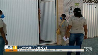 Após paralisação por conta da pandemia, agentes de saúde voltam a trabalhar em São Luís - Agentes voltaram a fazer ações de combate ao Aedes aegypti.