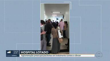 Telespectadora do MG1 registra hospital lotado - Aglomeração preocupa pacientes em tratamento contra o câncer, em BH.