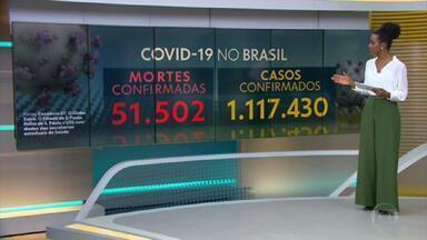 Brasil tem 51.502 mortes por coronavírus, mostra consórcio de veículos de imprensa - Há 1.117.430 de casos confirmados no país. Segundo diretor da OMS, Brasil provavelmente tem mais casos de Covid-19 do que os relatados.