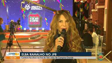 Elba Ramalho faz live de São João - Artista se apresenta em transmissão do São João de Campina Grande.