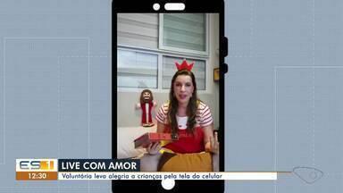 'Princesa' faz live com crianças internadas durante pandemia de coronavírus no ES - Veja a reportagem.