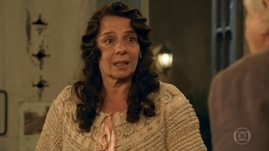 Eponina pede que Pancrácio nunca mais a procure - Ela se despede do professor antes de voltar para a fazenda