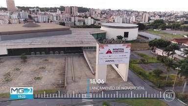 Depois de 3 meses do anúncio, hospital de campanha continua fechado - Unidade montada no Expominas, em Belo Horizonte, possui 740 leitos de enfermaria e 28 de estabilização. Empresa que vai gerir o hospital ainda não foi escolhida.