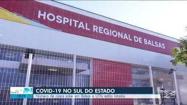 Com UTI's lotadas, número de casos do novo coronavírus sobe em Balsas - Secretaria Municipal de Saúde diz que todos os bairros da cidade já tem registros de Covid-19.