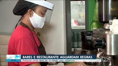 Bares e restaurantes aguardam regras de protocolo para reabertura em São Luís - Depois de anunciar a reabertura antecipada, governo do Estado ainda não divulgou o protocolo que deve ser obedecido, para garantir segurança de funcionários e consumidores.