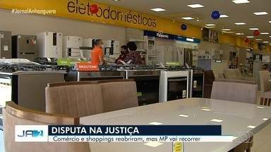MP pretende recorrer na Justiça contra reabertura do comércio em Goiânia - Shoppings reabriram, mas precisam seguir série de regras para evitar propagação da Covid-19.