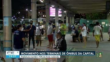 Prefeitura mantém 70% da frota de ônibus circulando na capital - Saiba mais em g1.com.br/ce
