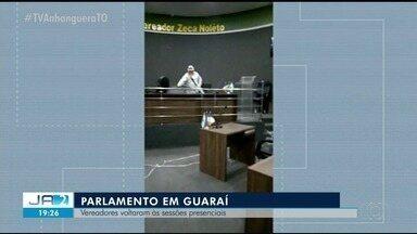 Câmara de Guaraí retoma sessões presenciais - Câmara de Guaraí retoma sessões presenciais