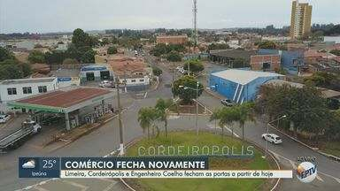 Cidades da região de Piracicaba voltam a fechar os comércios nesta quinta-feira - Limeira, Cordeirópolis e Engenheiro Coelho decidiram tomar a medida até o dia 5 de julho.