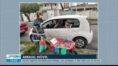 """Escola organiza """"arraial móvel"""" - Atividade para festejar, com proteção, o São João com os alunos"""