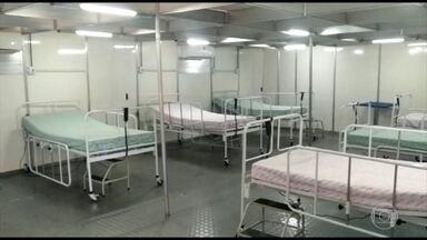 Hospital de campanha começa a funcionar em Campo Grande - Mato Grosso do Sul vê crescer aceleradamente o número de casos de Covid-19.